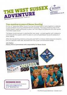 West Sussex Scouts October News Letter