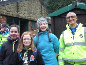 1st Roffey's girls team winners