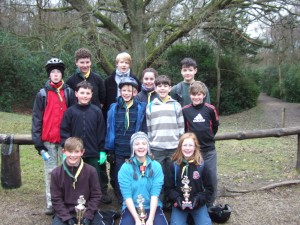 1st Roffey 2012 Cyclo Cross Competion team